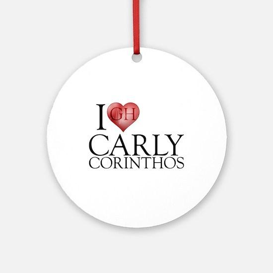 I Heart Carly Corinthos Round Ornament