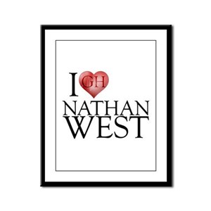 I Heart Nathan West Framed Panel Print