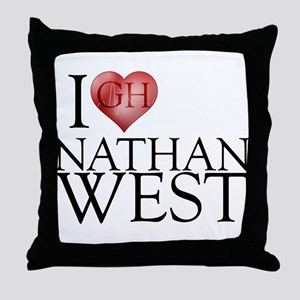 I Heart Nathan West Throw Pillow