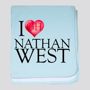 I Heart Nathan West Infant Blanket