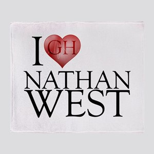 I Heart Nathan West Stadium Blanket