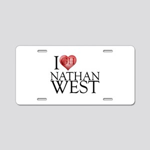 I Heart Nathan West Aluminum License Plate