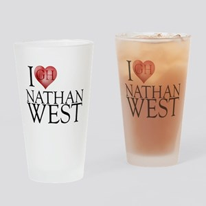 I Heart Nathan West Drinking Glass