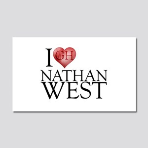 I Heart Nathan West Car Magnet 20 x 12