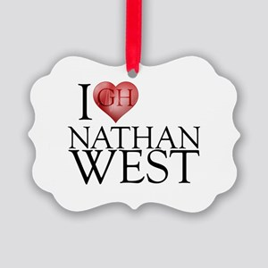I Heart Nathan West Picture Ornament