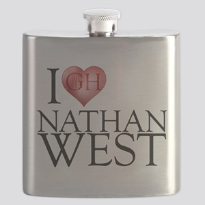I Heart Nathan West Flask
