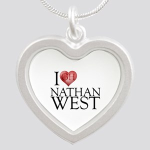 I Heart Nathan West Silver Heart Necklace