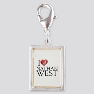 I Heart Nathan West Silver Portrait Charm