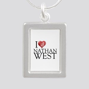 I Heart Nathan West Silver Portrait Necklace