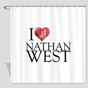 I Heart Nathan West Shower Curtain