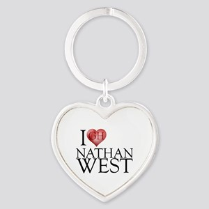 I Heart Nathan West Heart Keychain