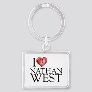 I Heart Nathan West Landscape Keychain
