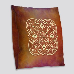 ELEGANT TILE Burlap Throw Pillow