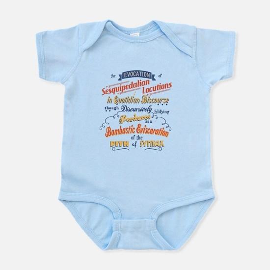 Sesquipedalian Locutions III Infant Bodysuit
