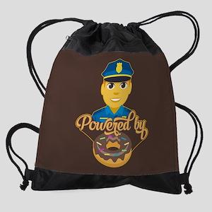 Emoji Police Donut Drawstring Bag