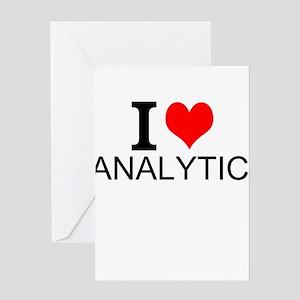 I Love Analytics Greeting Cards