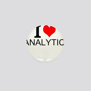 I Love Analytics Mini Button