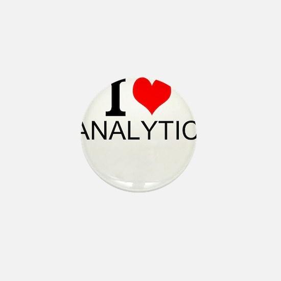 I Love Analytics Mini Button