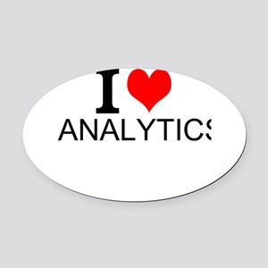 I Love Analytics Oval Car Magnet