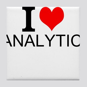 I Love Analytics Tile Coaster