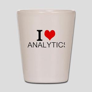 I Love Analytics Shot Glass