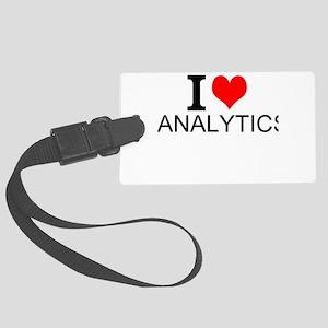 I Love Analytics Luggage Tag
