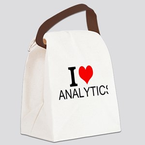 I Love Analytics Canvas Lunch Bag