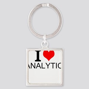 I Love Analytics Keychains