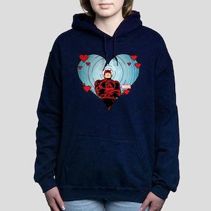 Daredevil Valentines Women's Hooded Sweatshirt