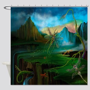 Primordial Climate Change Shower Curtain