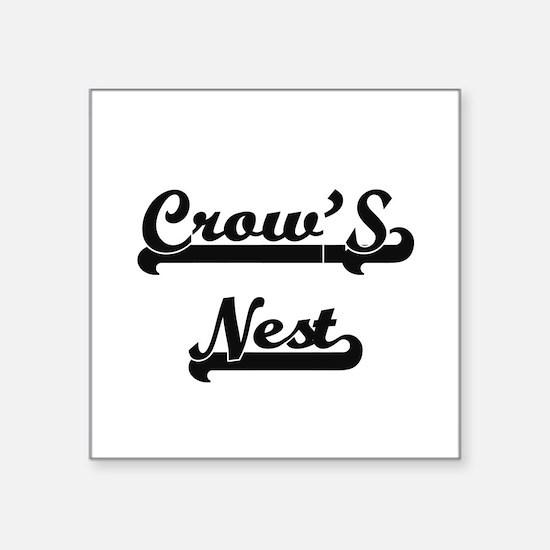 "Funny Crow Square Sticker 3"" x 3"""