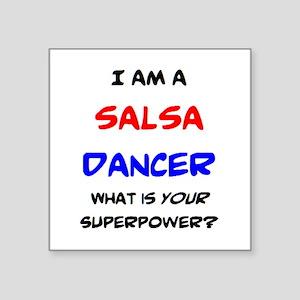 "salsa dancer Square Sticker 3"" x 3"""