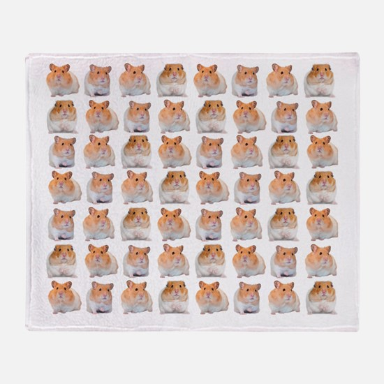 Hamster Invasion Throw Blanket