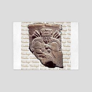 Nidaba Gold 5'x7'Area Rug