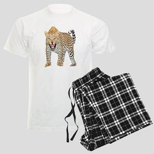 Leopard Snarl Men's Light Pajamas