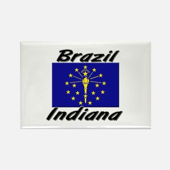 Brazil Indiana Rectangle Magnet
