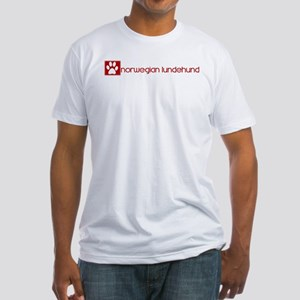 Norwegian Lundehund (dog paw  Fitted T-Shirt