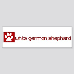 White German Shepherd (dog pa Bumper Sticker