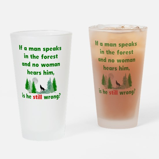 Unique Male quotes Drinking Glass