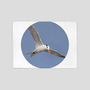 Royal Tern in Flight 5'x7'Area Rug
