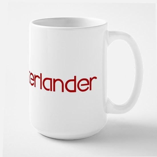 Munsterlander (dog paw red) Large Mug