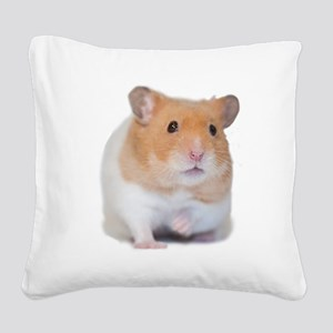 Chunk the Hamster Front Square Canvas Pillow