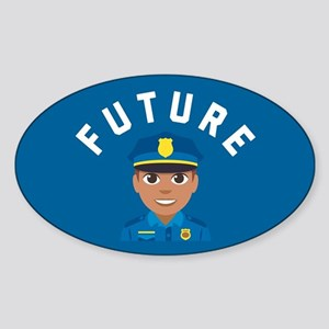 Emoji Future Police Sticker (Oval)