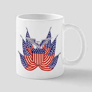 Vintage American Flag Mugs