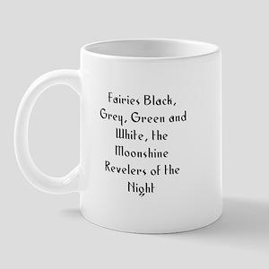 Fairies Black, Grey, Green an Mug