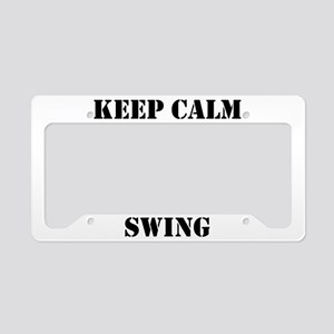 keep calm wcs License Plate Holder