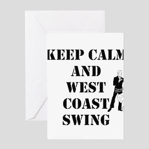 keep calm wcs Greeting Cards