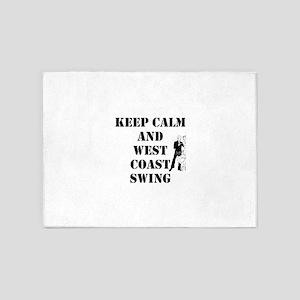 keep calm wcs 5'x7'Area Rug