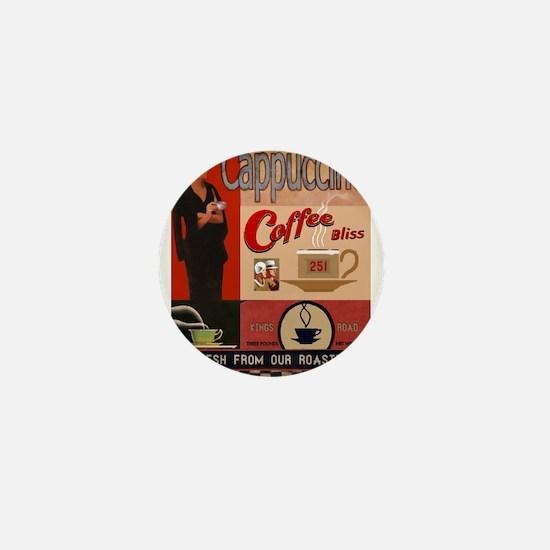 Vintage poster - Cappuccino Mini Button