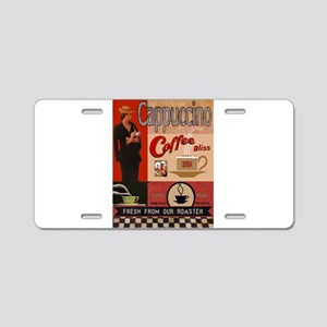 Vintage poster - Cappuccino Aluminum License Plate